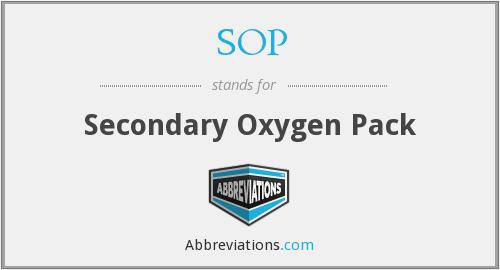 SOP - Secondary Oxygen Pack
