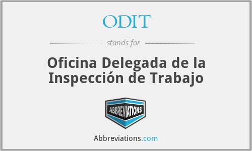 ODIT - Oficina Delegada de la Inspección de Trabajo