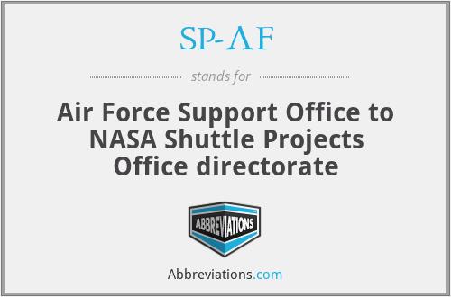 SP-AF - Air Force Support Office (KSC)