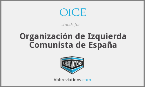 What does OICE stand for?