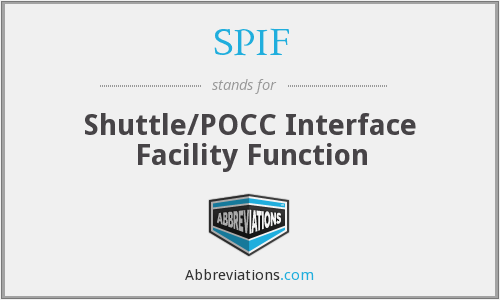 SPIF - Shuttle/POCC Interface Facility Function