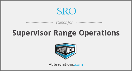 SRO - Supervisor Range Operations
