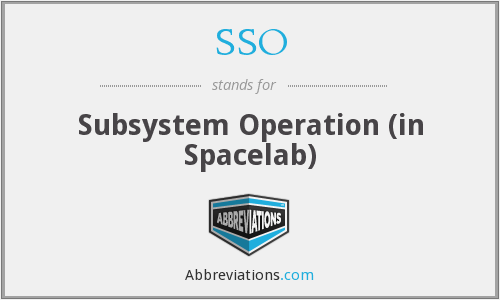 SSO - Subsystem Operation (in Spacelab)