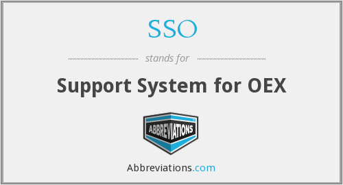 SSO - Support System for OEX