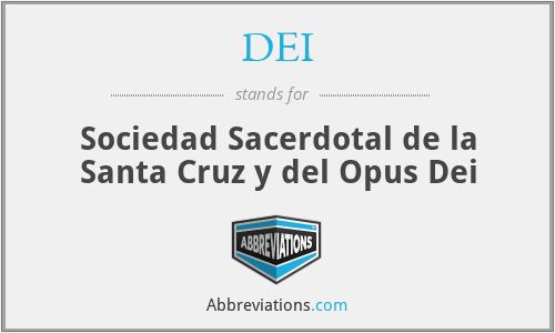 DEI - Sociedad Sacerdotal de la Santa Cruz y del Opus Dei