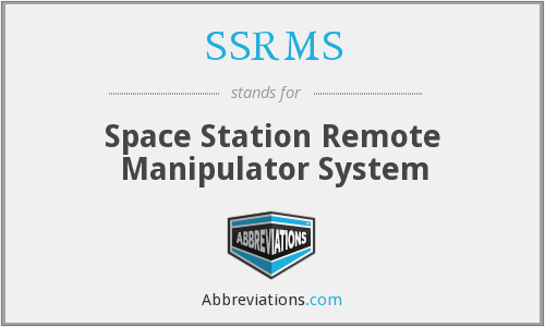 What does SSRMS stand for?