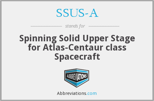 SSUS-A - Spinning Solid Upper Stage for Atlas-Centaur class Spacecraft