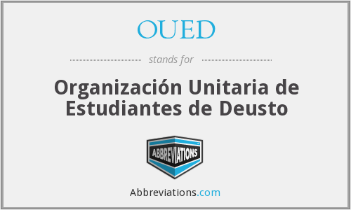 What does OUED stand for?