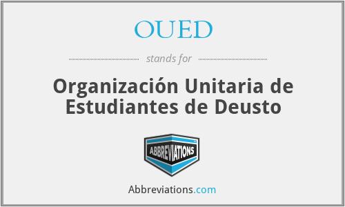 OUED - Organización Unitaria de Estudiantes de Deusto