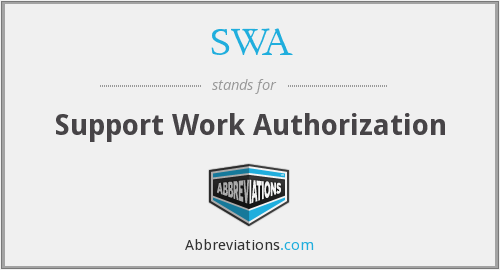SWA - Support Work Authorization