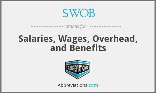 SWOB - Salaries, Wages, Overhead, and Benefits