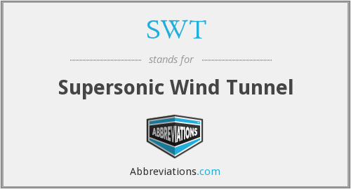 SWT - Supersonic Wind Tunnel