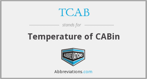 TCAB - Temperature of Cabin