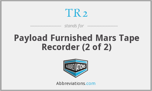 TR2 - Payload Furnished Mars Tape Recorder (2 of 2)