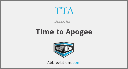 TTA - Time to Apogee