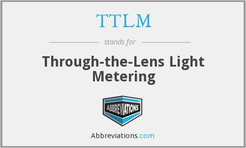 TTLM - Through-the-Lens Light Metering