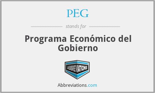 PEG - Programa Económico del Gobierno