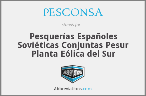 What does PESCONSA stand for?