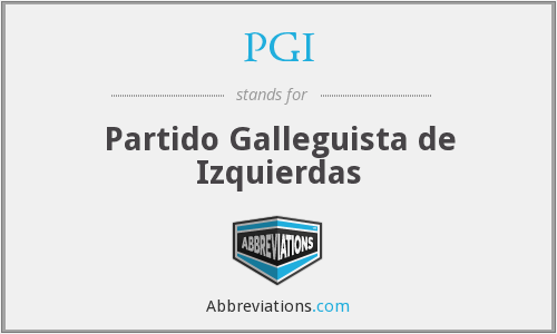 PGI - Partido Galleguista de Izquierdas