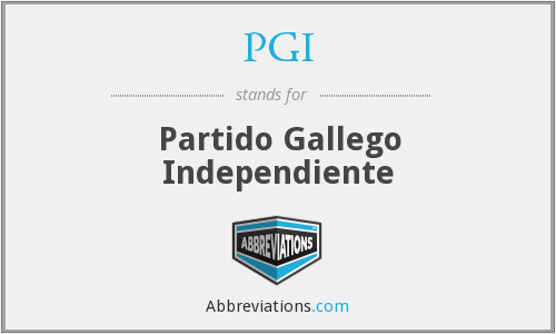 PGI - Partido Gallego Independiente