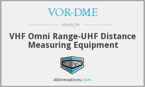 What does VOR-DME stand for?