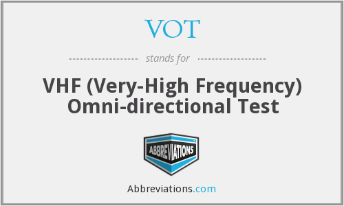 VOT - VHF (Very-High Frequency) Omni-directional Test