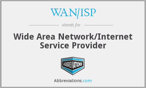 What does WAN/ISP stand for?