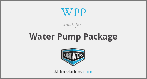 WPP - Water Pump Package