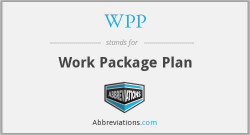 WPP - Work Package Plan