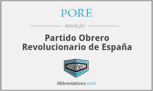 PORE - Partido Obrero Revolucionario de España