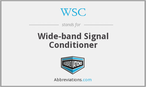 WSC - Wide-band Signal Conditioner