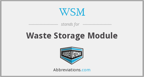 WSM - Waste Storage Module