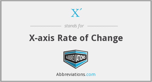 X' - X-axis Rate of Change