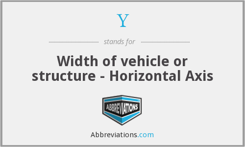 Y - Width of vehicle or structure - Horizontal Axis