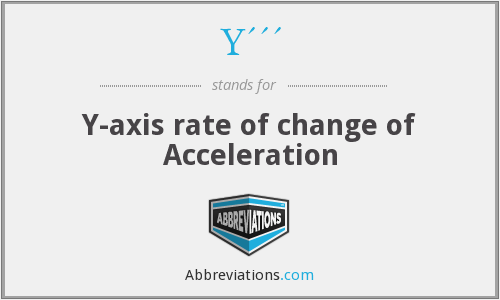 Y''' - Y-axis rate of change of Acceleration