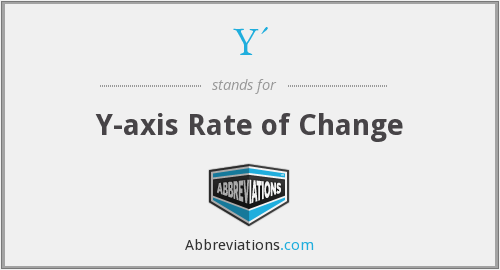 Y' - Y-axis Rate of Change