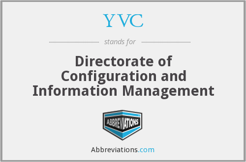 YVC - Directorate of Configuration and Information Management