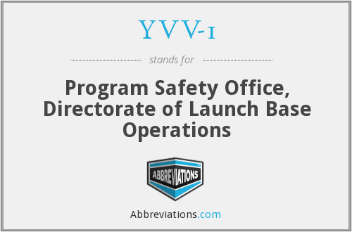 YVV-1 - Program Safety Office, Directorate of Launch Base Operations