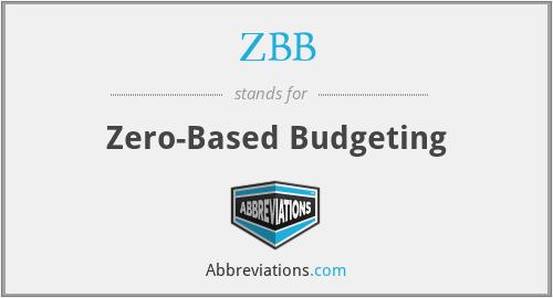 ZBB - Zero-Based Budgeting