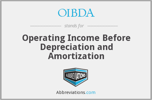 OIBDA - Operating Income Before Depreciation and Amortization
