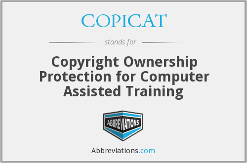 COPICAT - Copyright Ownership Protection for Computer Assisted Training