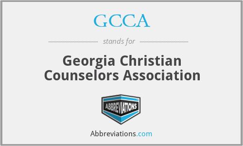 GCCA - Georgia Christian Counselors Association