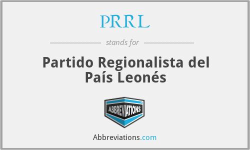 PRRL - Partido Regionalista del País Leonés