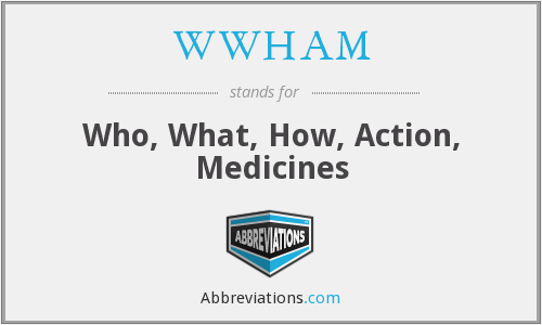 WWHAM - Who, What, How, Action, Medicines