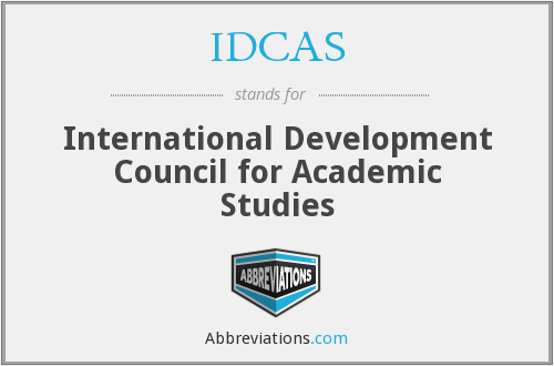 IDCAS - International Development Council for Academic Studies