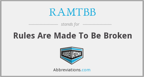 What does RAMTBB stand for?