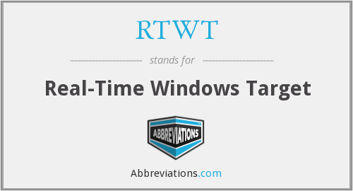 RTWT - Real-Time Windows Target