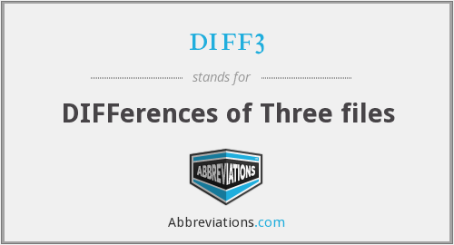 What does DIFF3 stand for?
