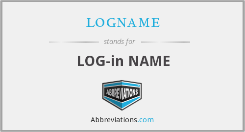 logname - log-in name