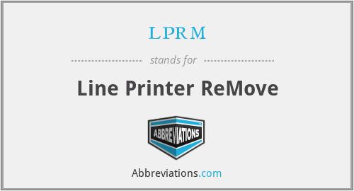 lprm - Line Printer ReMove